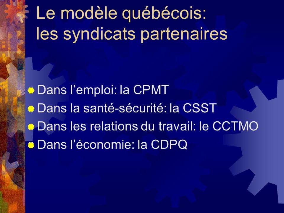 Le modèle québécois: les syndicats partenaires