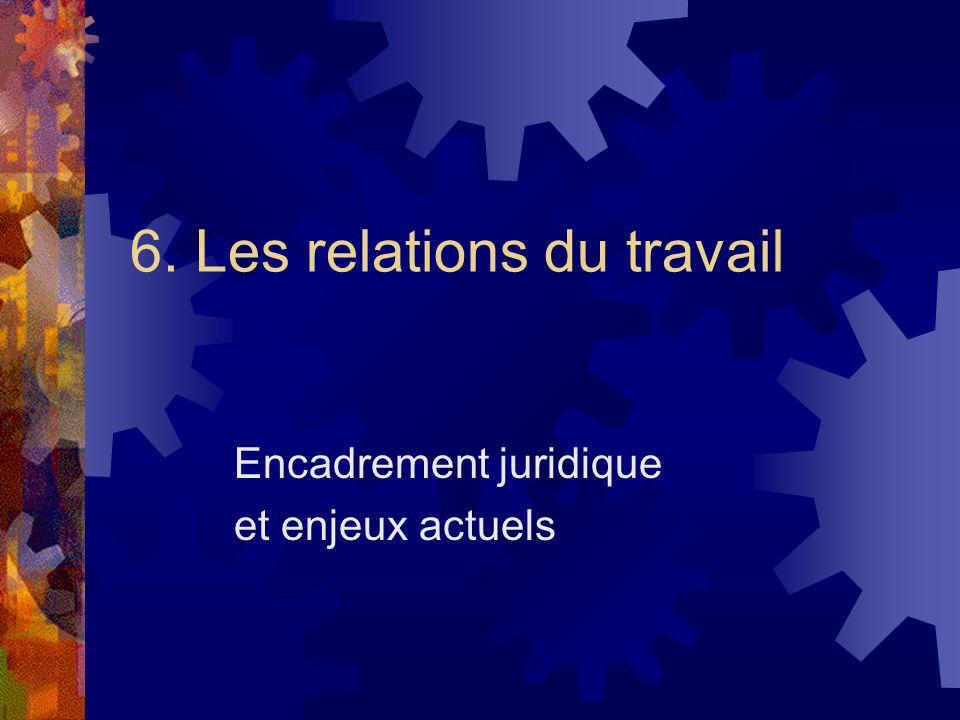 6. Les relations du travail
