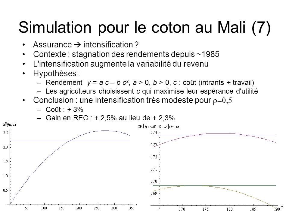 Simulation pour le coton au Mali (7)