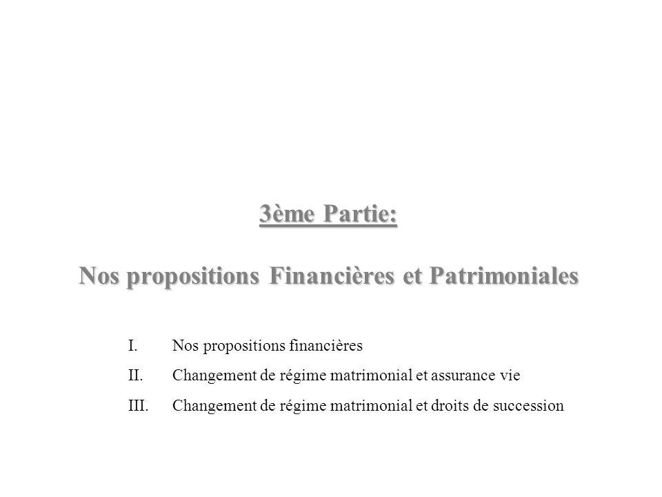 3ème Partie: Nos propositions Financières et Patrimoniales