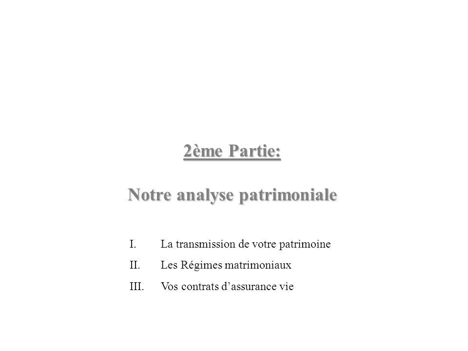 2ème Partie: Notre analyse patrimoniale