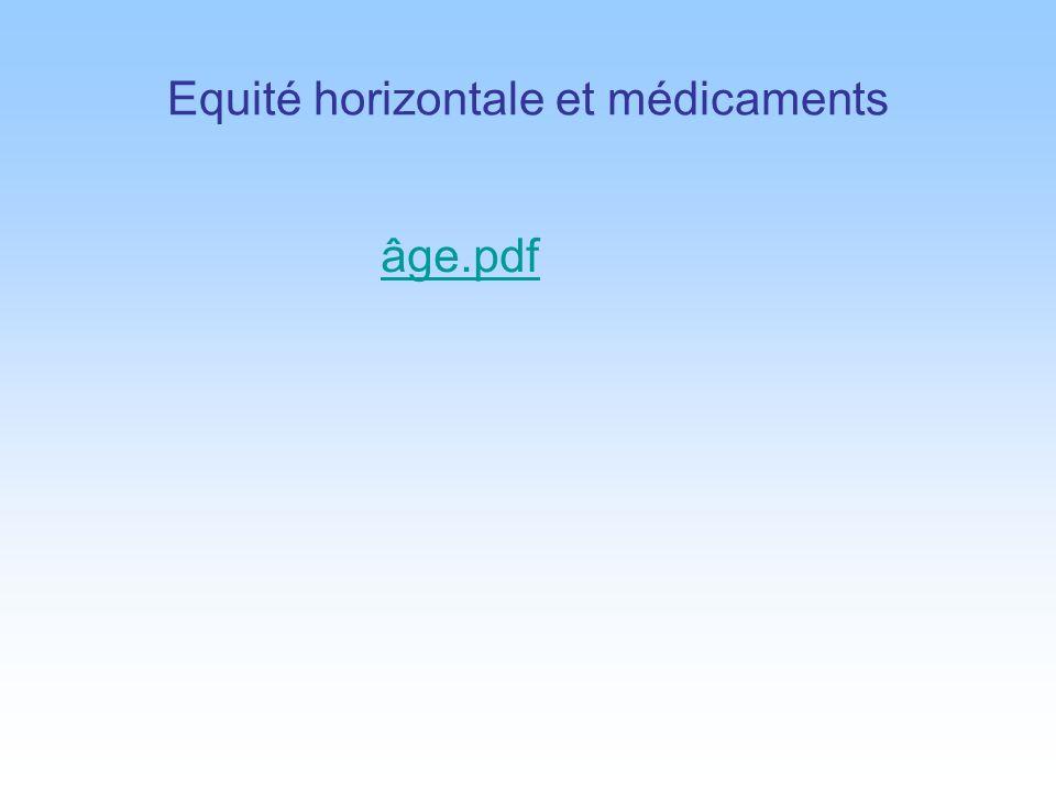 Equité horizontale et médicaments