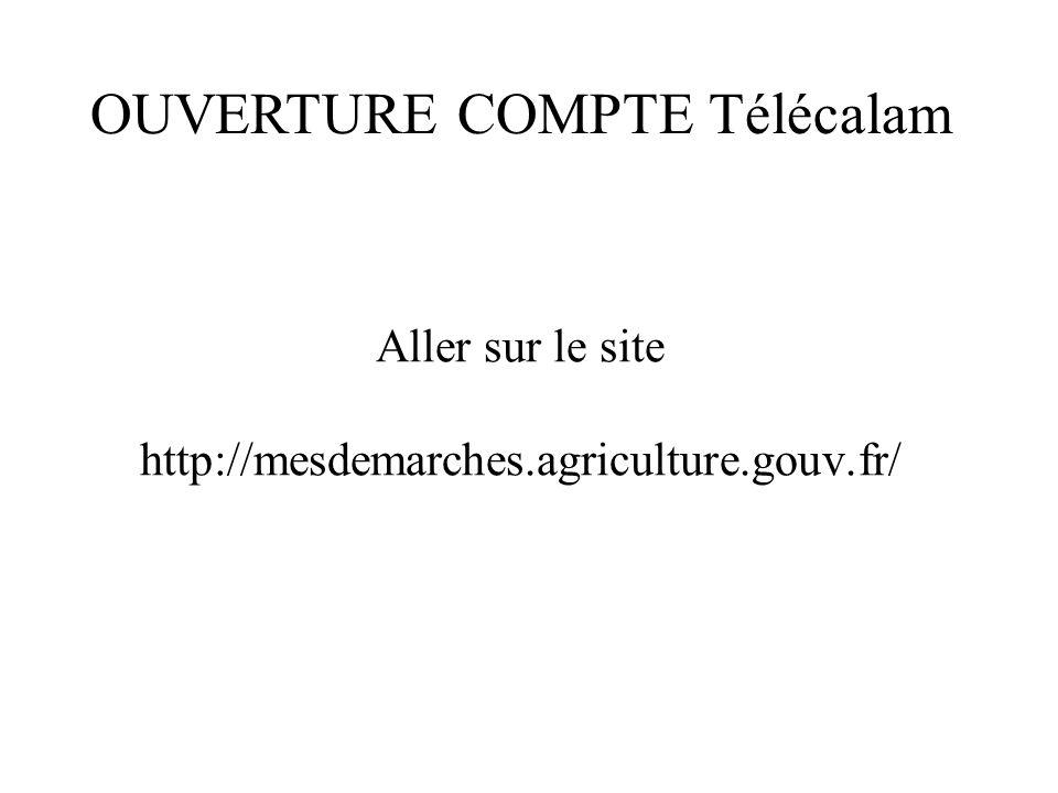Aller sur le site http://mesdemarches.agriculture.gouv.fr/