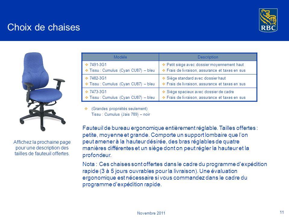 Choix de chaises Modèle. Description. 7491-3G1. Tissu : Cumulus (Cyan CU87) – bleu. Petit siège avec dossier moyennement haut.
