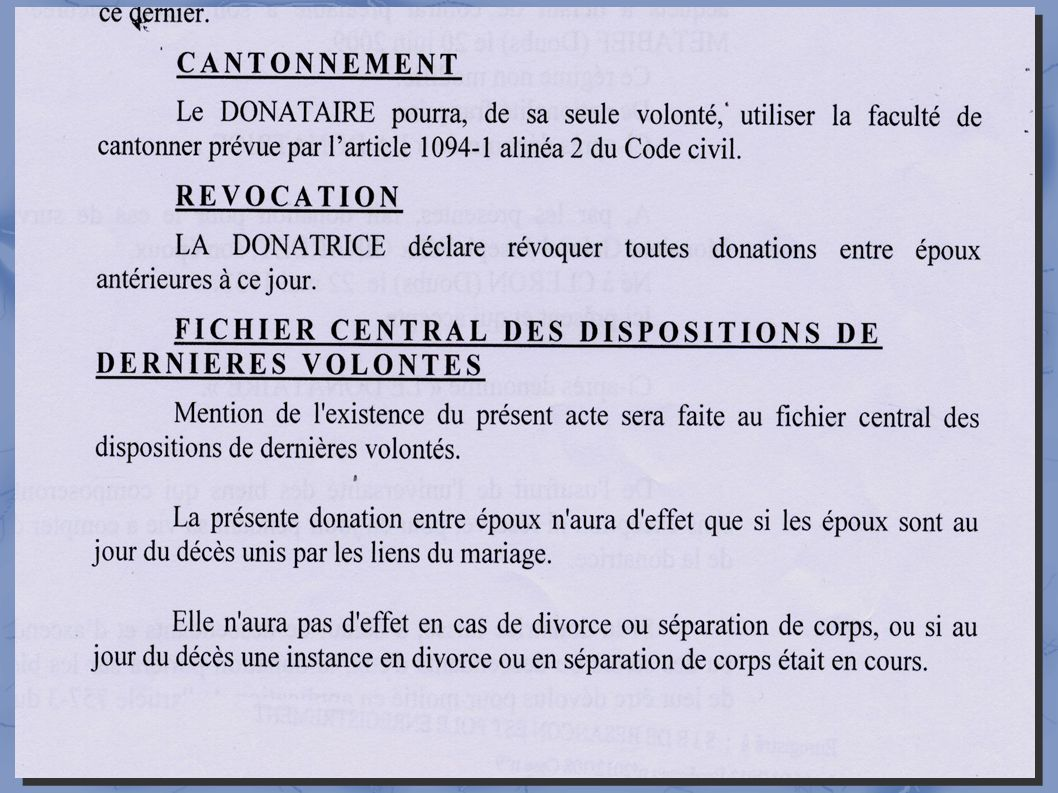 3- Donations et succession →entre époux : exemple