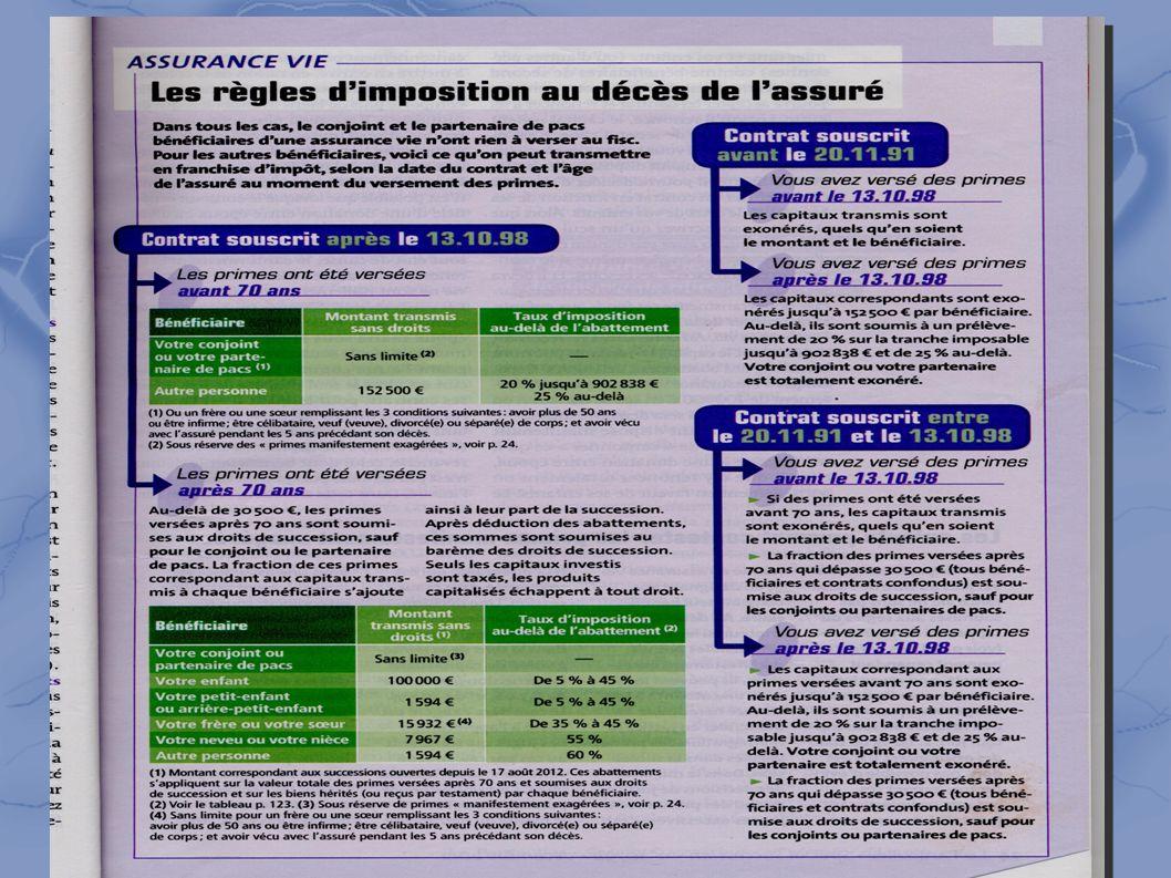 4-l assurance-vie → règles d imposition