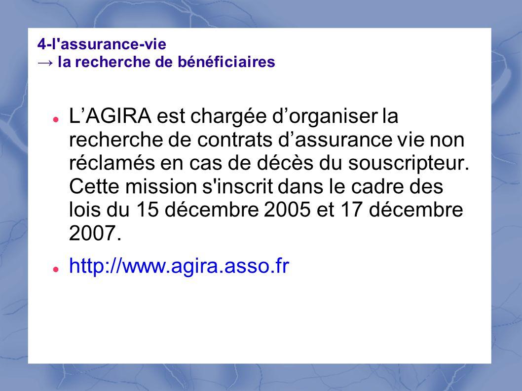 4-l assurance-vie → la recherche de bénéficiaires