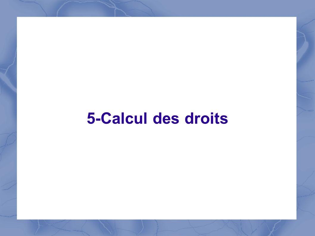 5-Calcul des droits