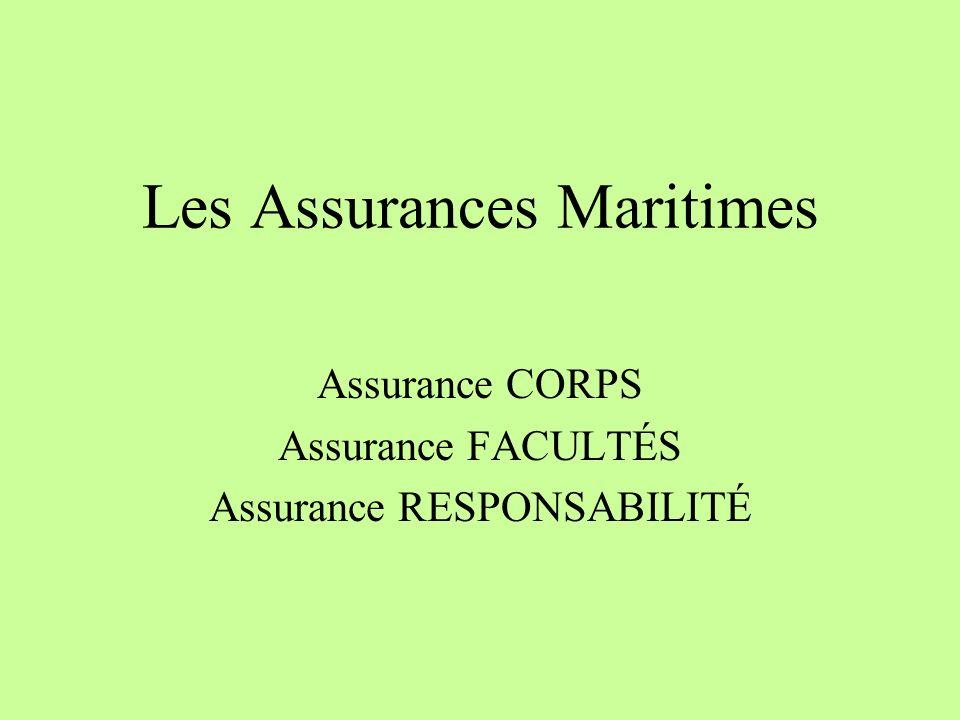 Les Assurances Maritimes