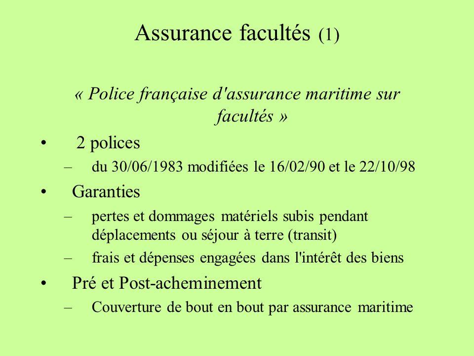 « Police française d assurance maritime sur facultés »