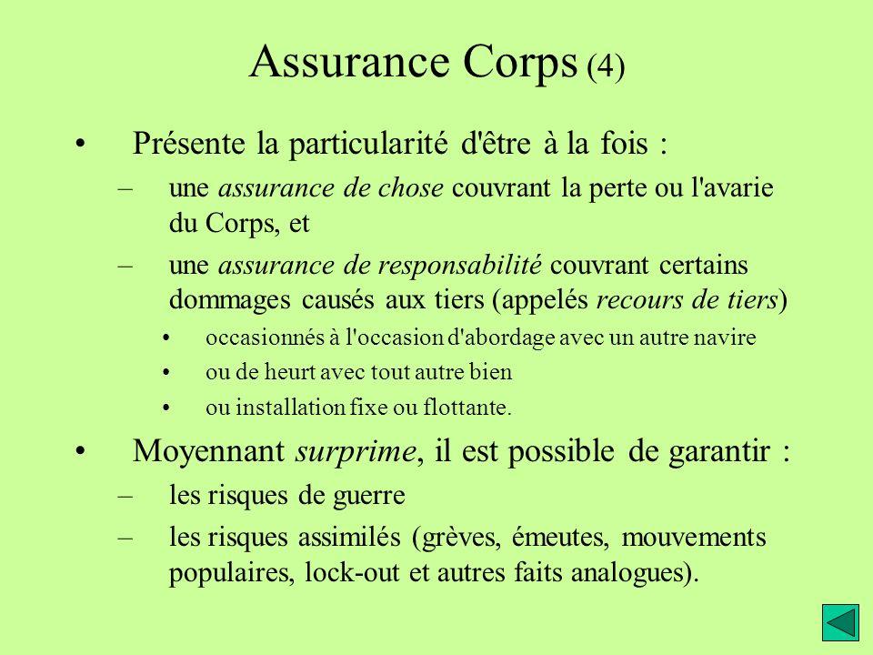 Assurance Corps (4) Présente la particularité d être à la fois :