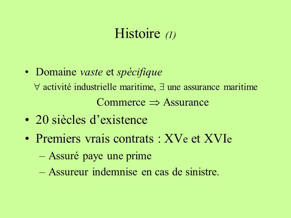  activité industrielle maritime,  une assurance maritime