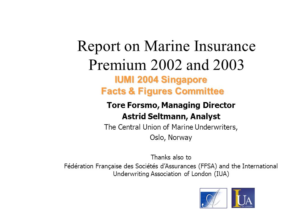 Report on Marine Insurance Premium 2002 and 2003