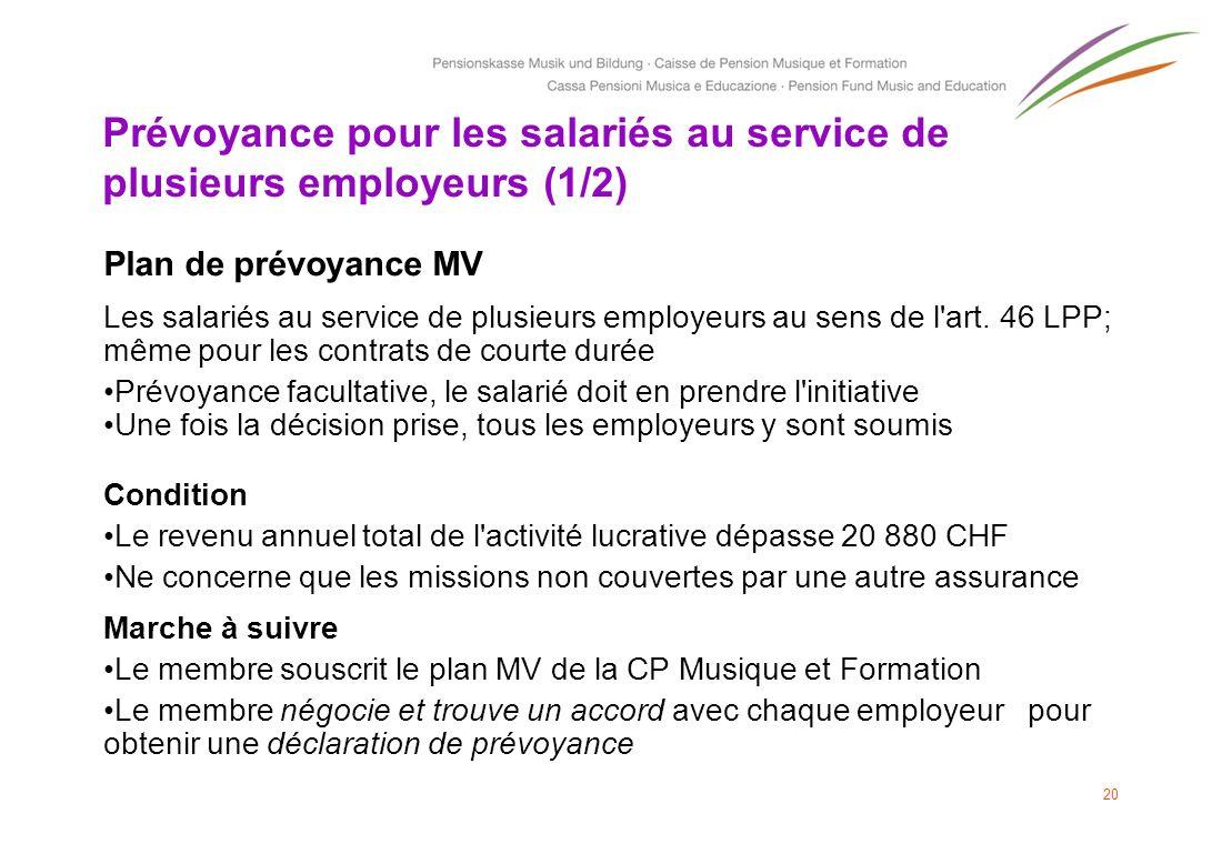 Prévoyance pour les salariés au service de plusieurs employeurs (1/2)