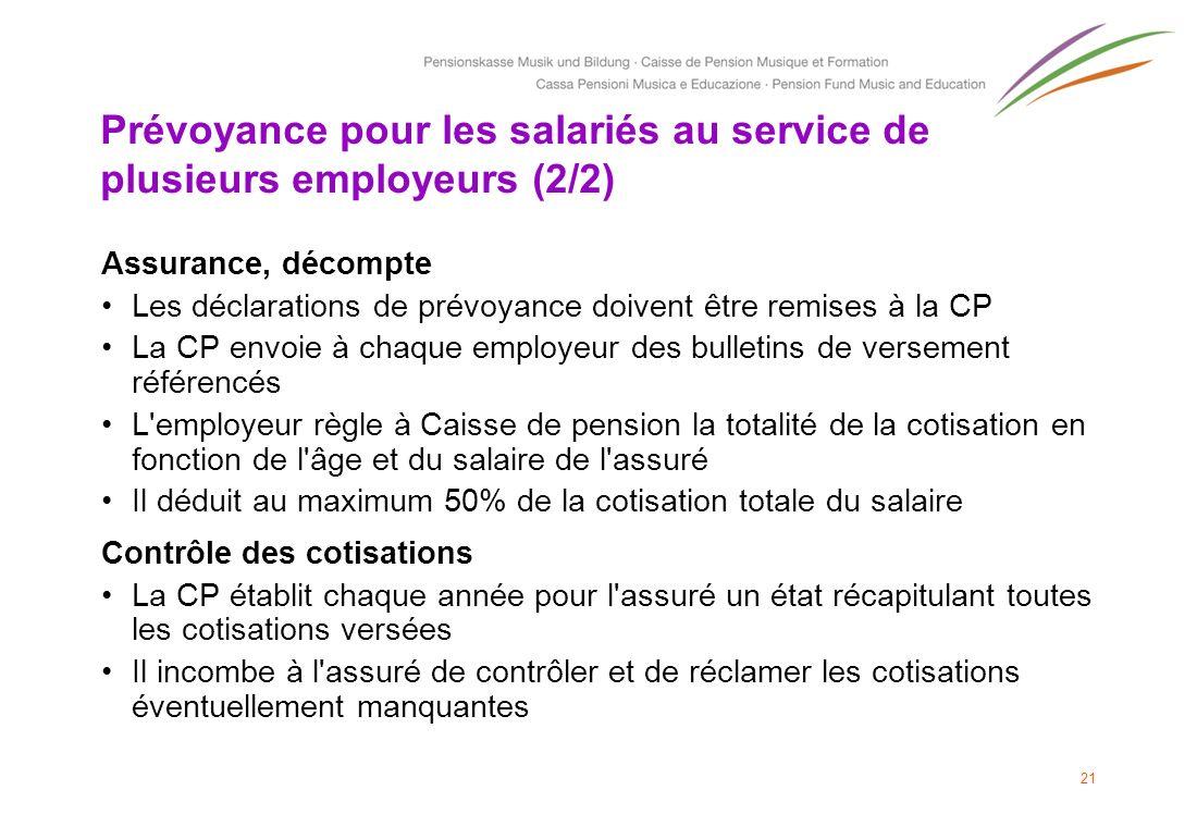 Prévoyance pour les salariés au service de plusieurs employeurs (2/2)