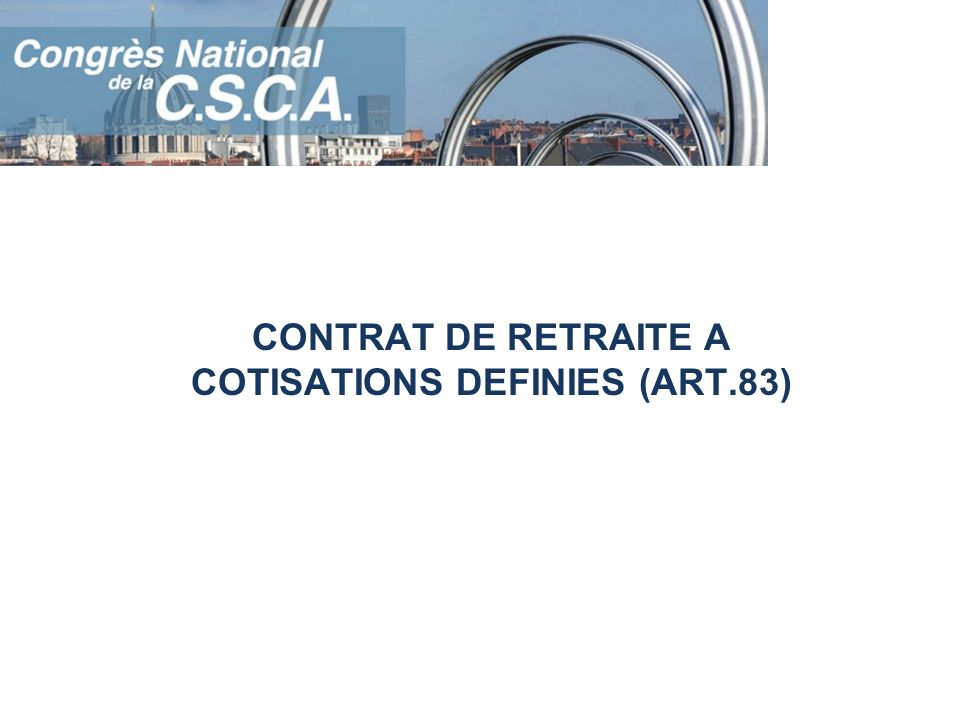 MESURES AFFECTANT LES REGIMES DE RETRAITES SUPPLEMENTAIRES