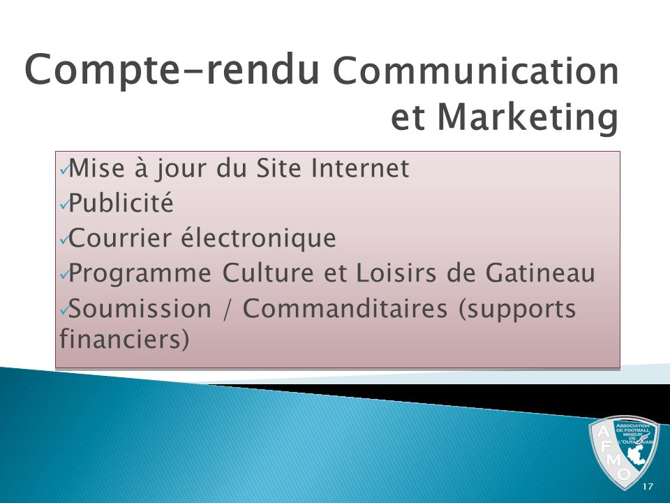 Compte-rendu Communication et Marketing