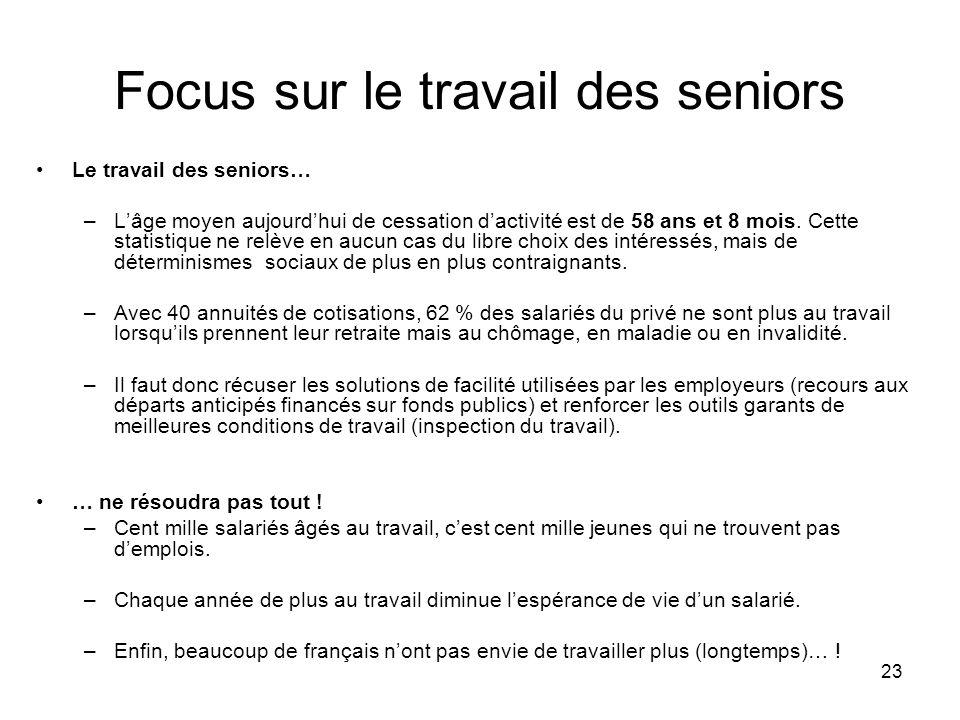 Focus sur le travail des seniors