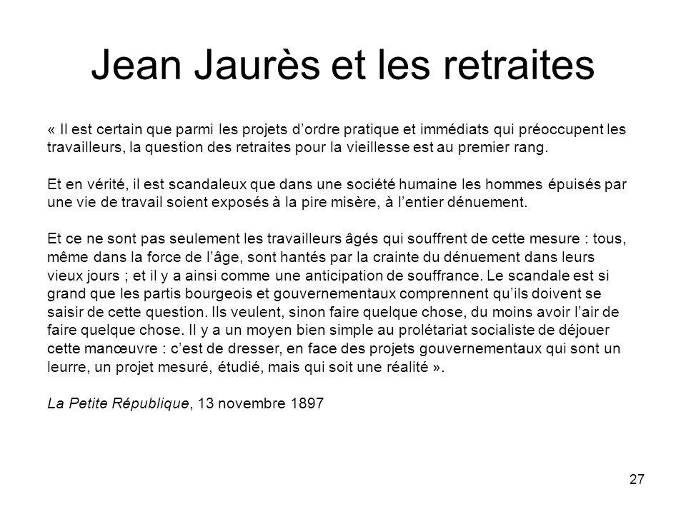 Jean Jaurès et les retraites