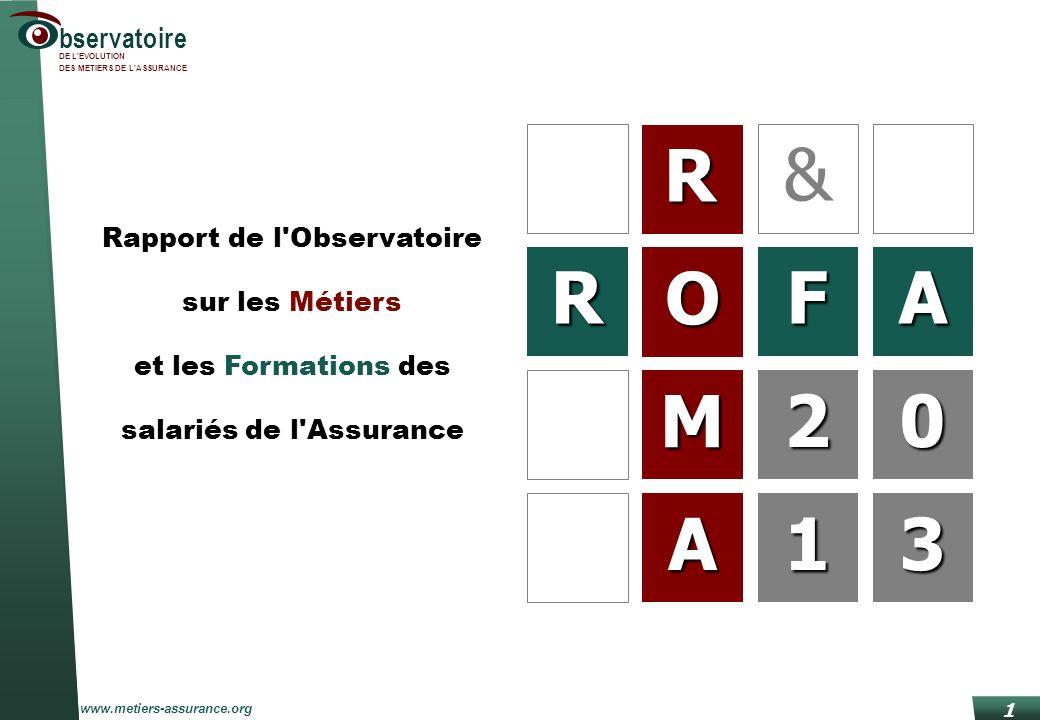 & R O F A 2 M 2 1 A 1 3 R Rapport de l Observatoire sur les Métiers