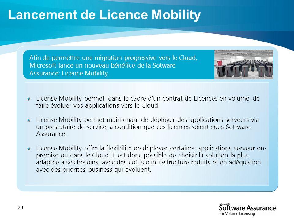 Lancement de Licence Mobility