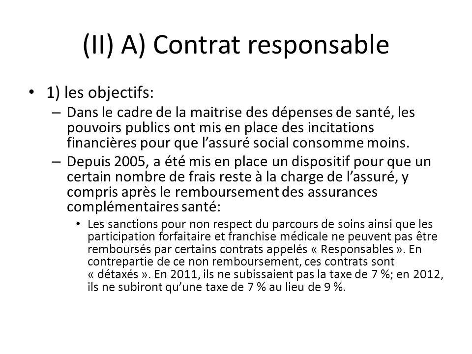 (II) A) Contrat responsable