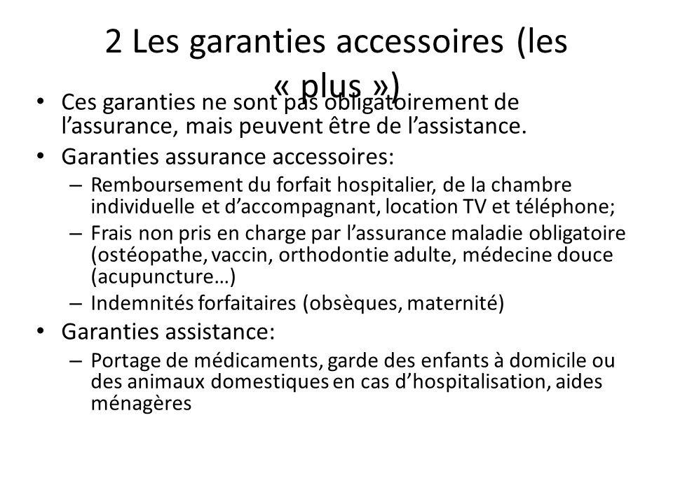 2 Les garanties accessoires (les « plus »)