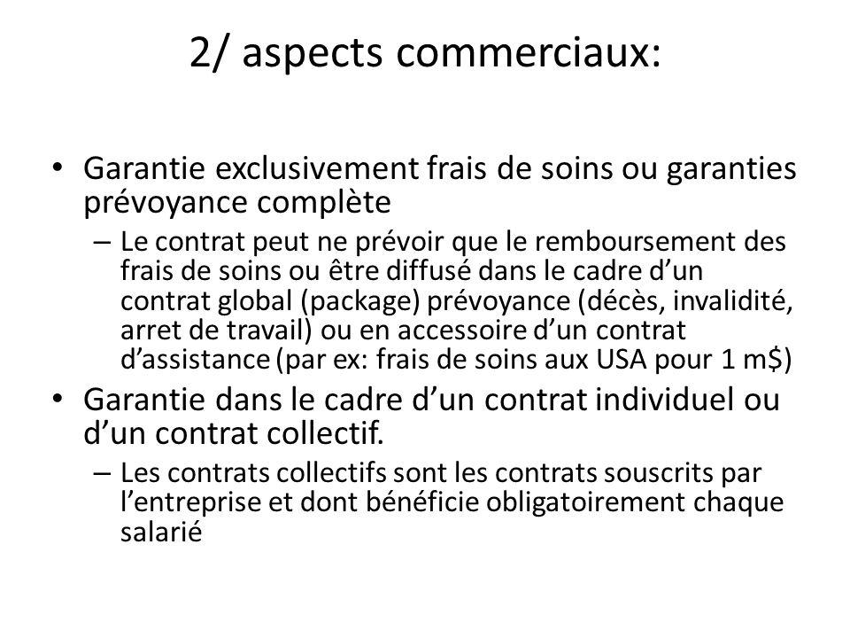 2/ aspects commerciaux: