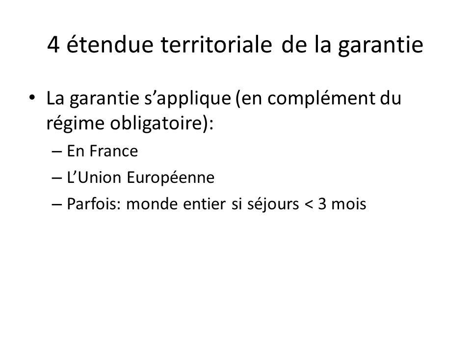 4 étendue territoriale de la garantie