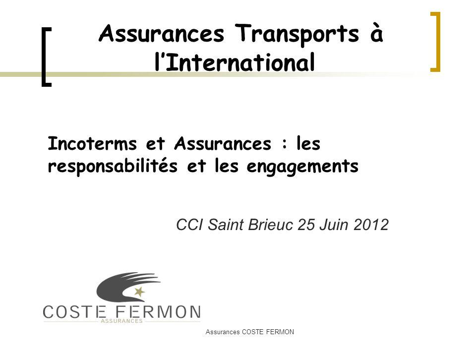 Assurances Transports à l'International