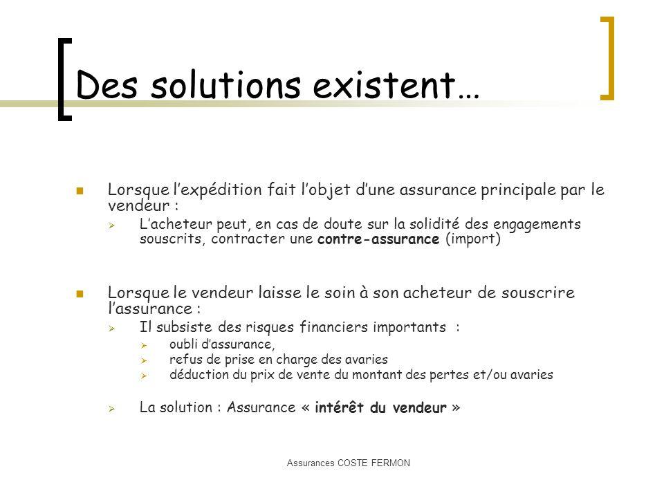 Des solutions existent…