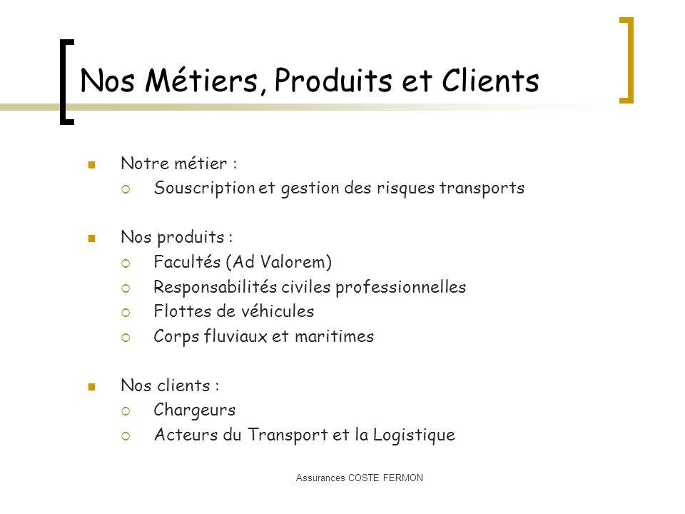 Nos Métiers, Produits et Clients