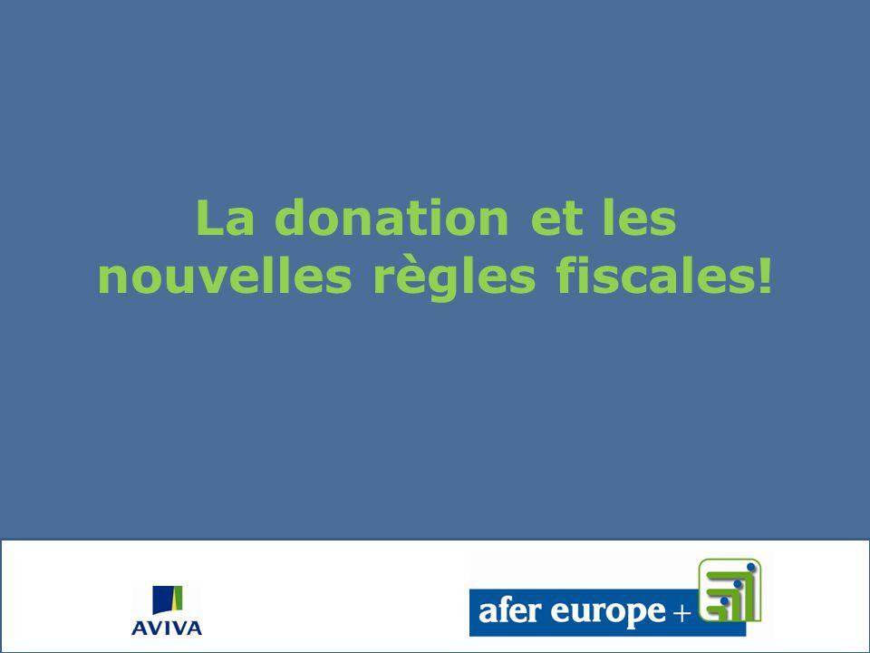 La donation et les nouvelles règles fiscales!