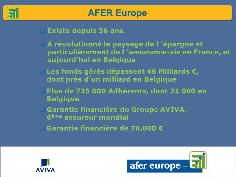 AFER Europe Existe depuis 36 ans.