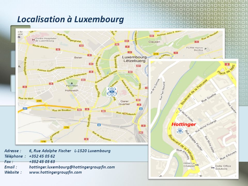 Localisation à Luxembourg