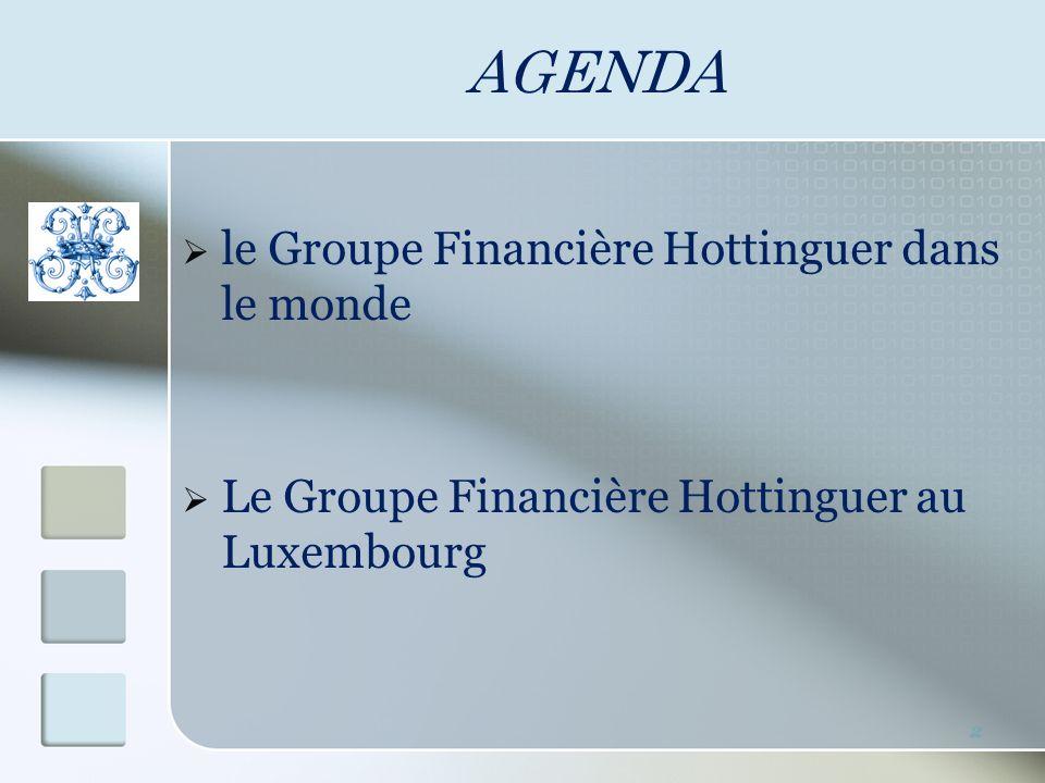 AGENDA le Groupe Financière Hottinguer dans le monde