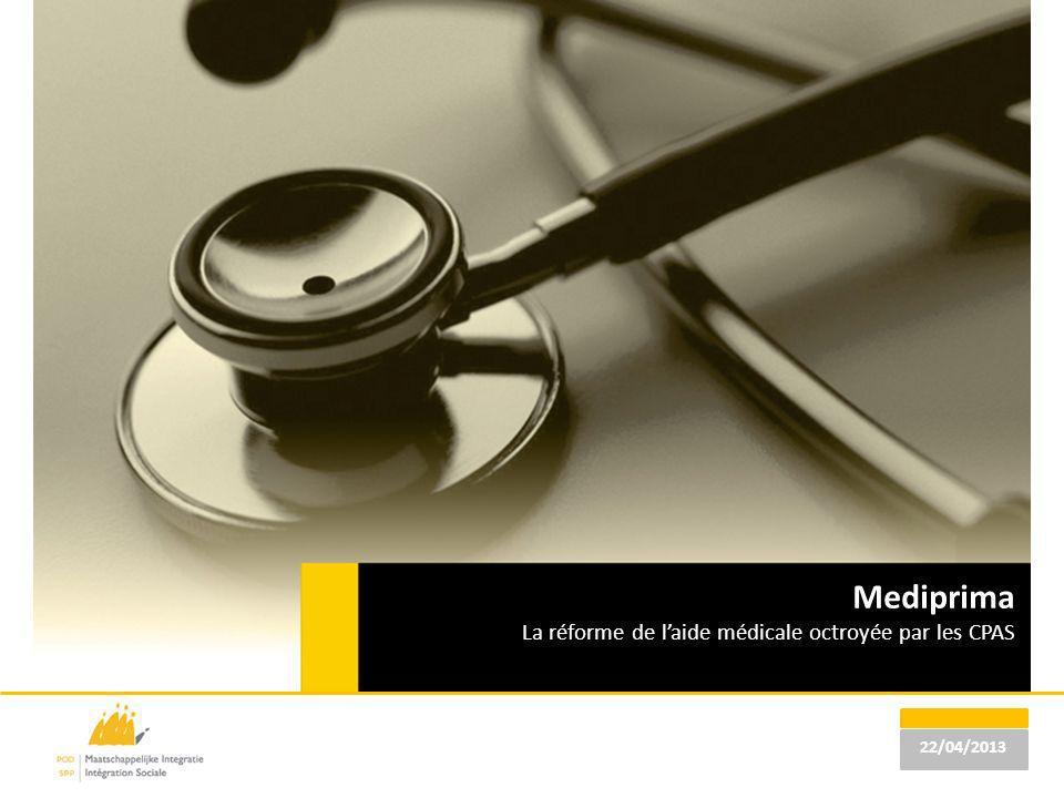 Mediprima La réforme de l'aide médicale octroyée par les CPAS