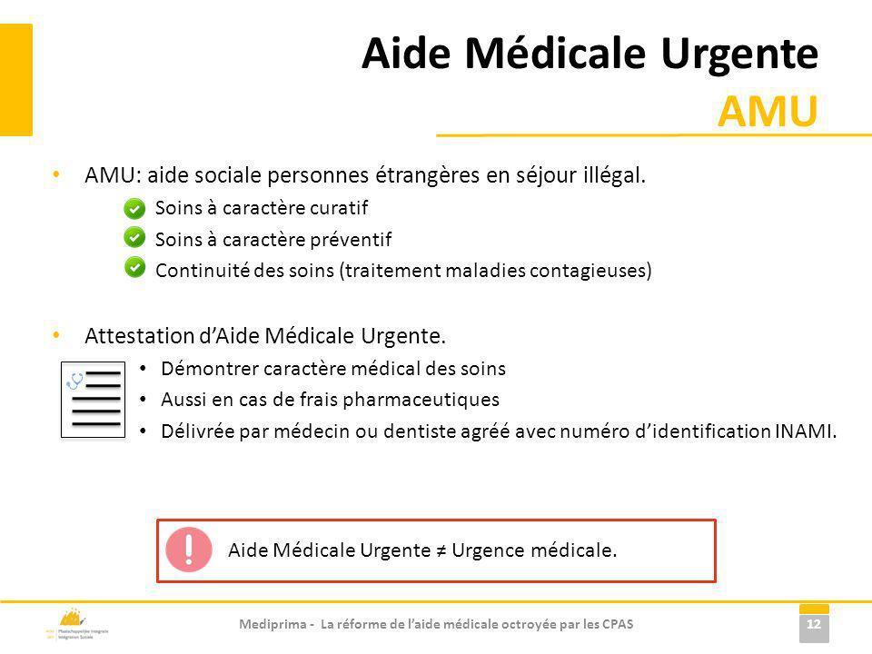Aide Médicale Urgente AMU