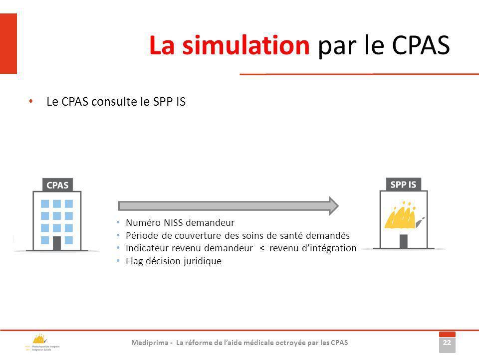La simulation par le CPAS