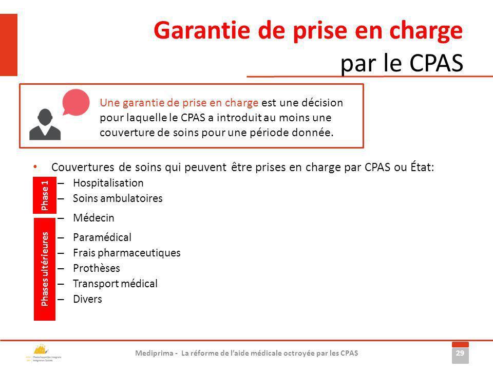 Garantie de prise en charge par le CPAS