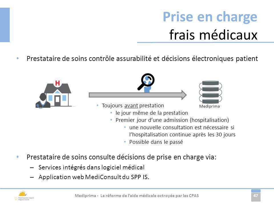 Prise en charge frais médicaux