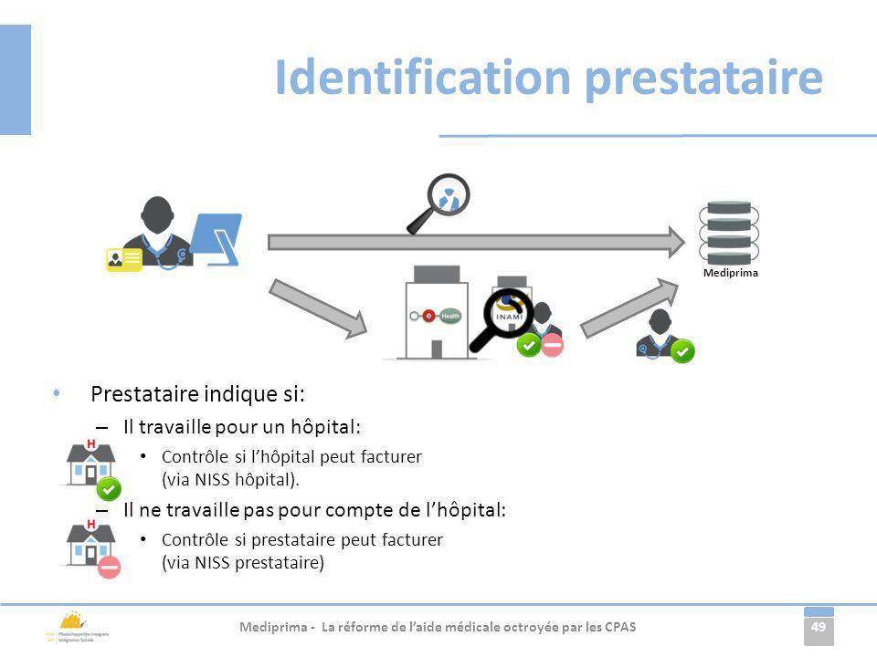 Identification prestataire