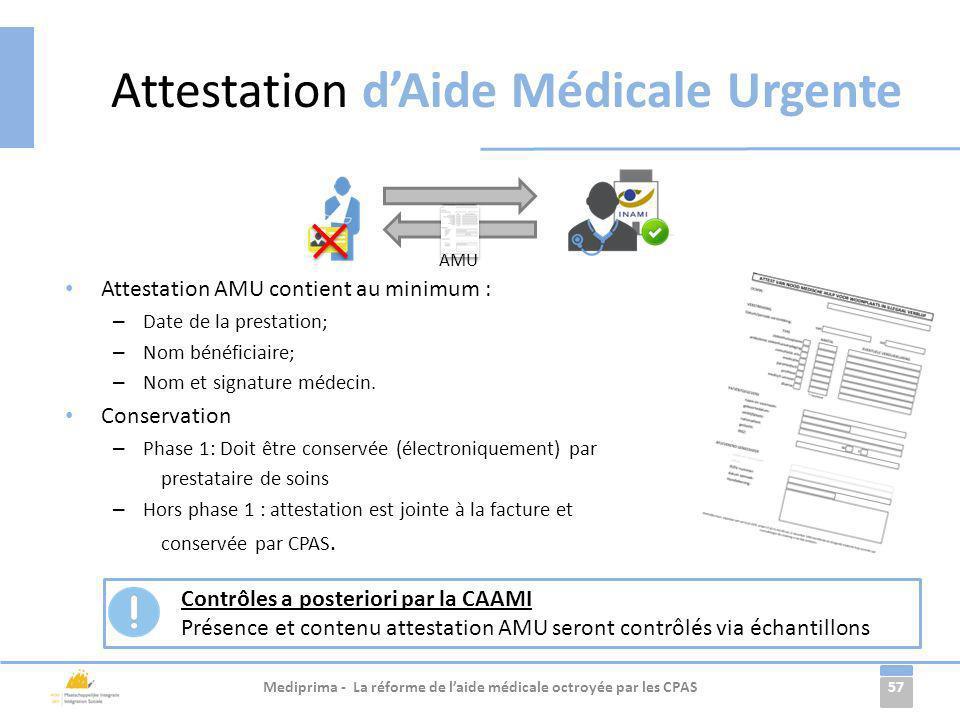 Attestation d'Aide Médicale Urgente