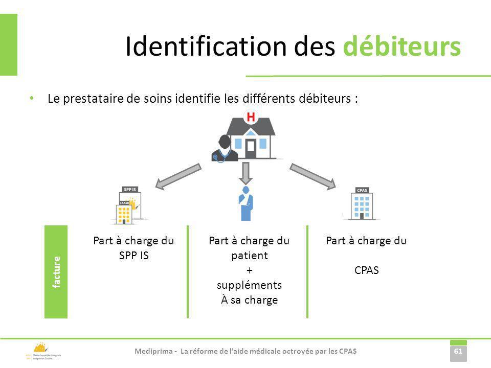 Identification des débiteurs