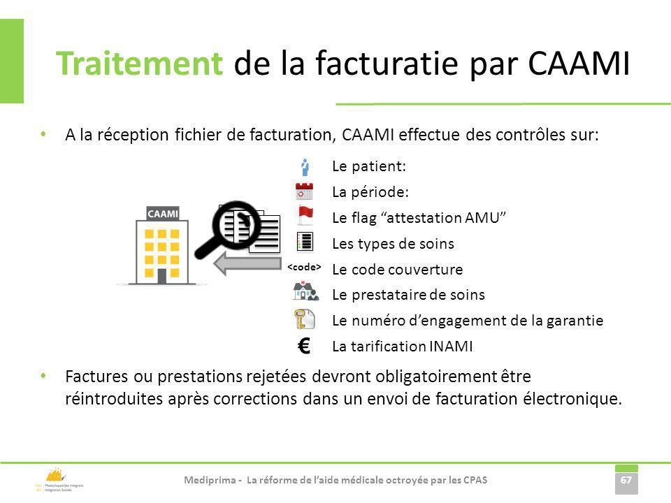 Traitement de la facturatie par CAAMI