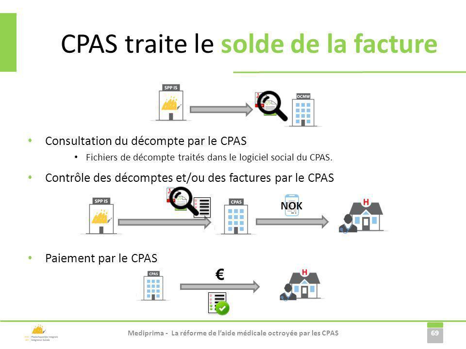 CPAS traite le solde de la facture