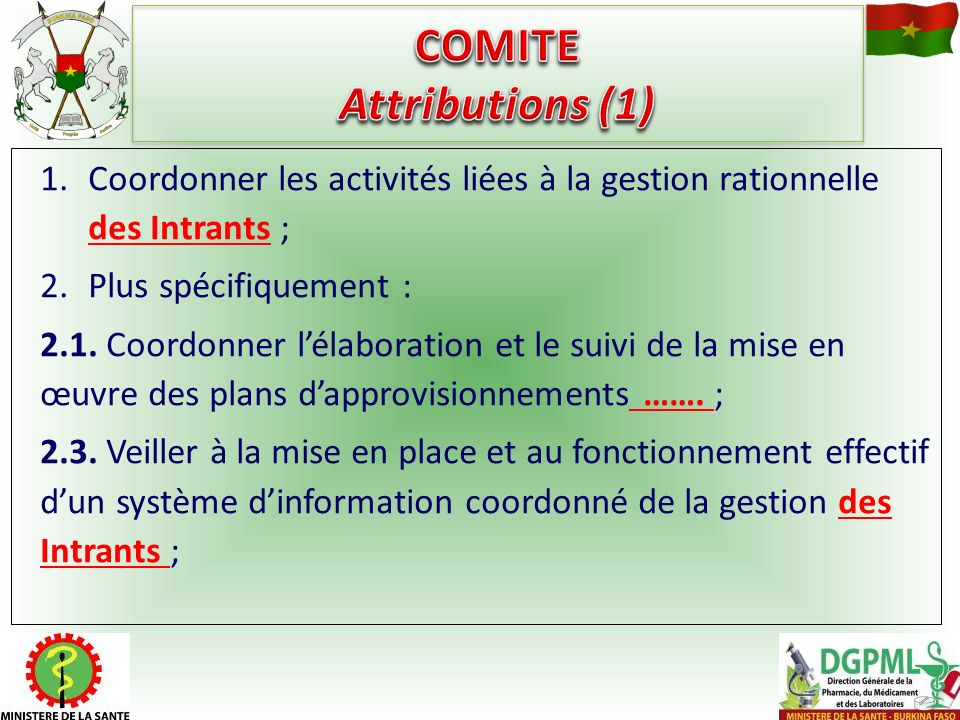 COMITE Attributions (1)