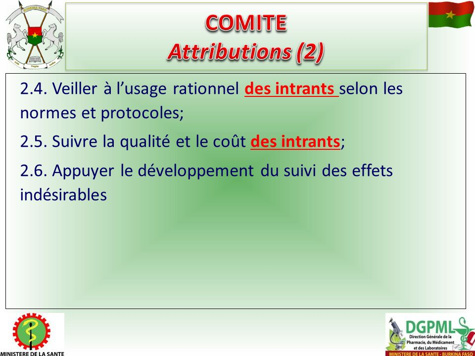 COMITE Attributions (2)