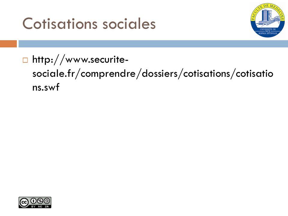 Cotisations sociales http://www.securite- sociale.fr/comprendre/dossiers/cotisations/cotisatio ns.swf.