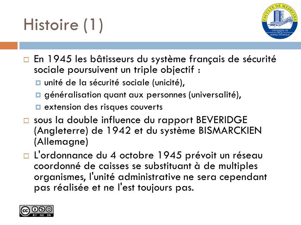 Histoire (1) En 1945 les bâtisseurs du système français de sécurité sociale poursuivent un triple objectif :